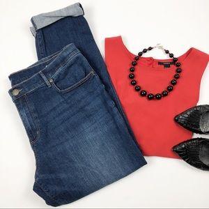 Ann Taylor LOFT Medium Wash Girlfriend Jeans Sz 12